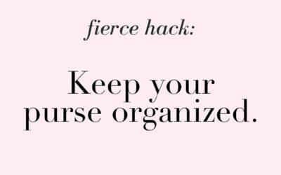 An organized purse can boost your self-esteem.